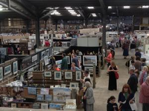 Craven Herald: THOUSANDS of visitors flocked to Skipton Auction Mart to see the paintings and crafts on display at the 11th annual Art in the Pen exhibition.